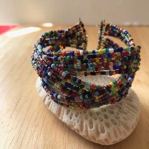 Southwest Beaded Bangle Cuff Bracelet Retro Boho
